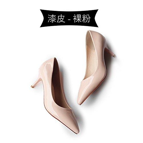 señaló negro Bare 2018 zapatos altos zapatos profesionales con Tacones de powder Jqdyl trabajo tacones bien primavera xI6SPtn5wq