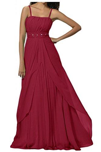 Toscana sposa perla Strass due-Traeger stanotte Chiffon giovane a lungo per abiti da sposa Bete abiti da festa Ball rosso vivo 40