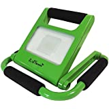 "LED Light by EAGems - Rechargeable Work Lamp, For Home-Office-Car-Inside/Out, Use in Emergency, As Spotlight, Carry Like a Flashlight - Portable, Folds to 1"" Thick - Adjustable 360 Degrees - 10W Green"