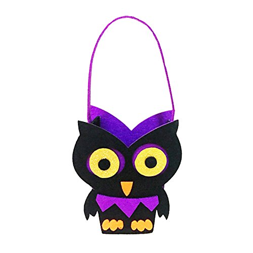 Per Halloween Candy Bag Trick Or Treat Gift Bag for Children Costume Accessory Goodie Prizes (Owl Halloween Treat Bags)
