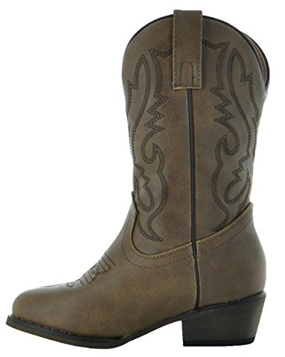 Country Love Little Rancher Kids Cowboy Boots K101-1001 (10, Brown) by Country Love Boots (Image #1)