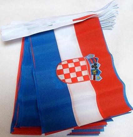 ESTNISCHE Girlande Flaggenkette 14 x 21 cm AZ FLAG FAHNENKETTE ESTLAND 6 Meter mit 20 flaggen 21x14cm