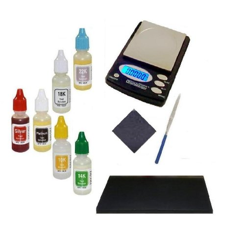 Beginner Coin Collector Kit- Electronic Scale with PuriTEST Purity Testing Kit and More- Gift Idea ()