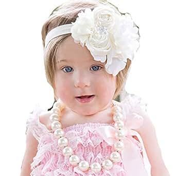 Amazon.com  Lebo Baby Girls Flower Haeadbands Hairbands Hair Bows ... 2a9e5bb31fd