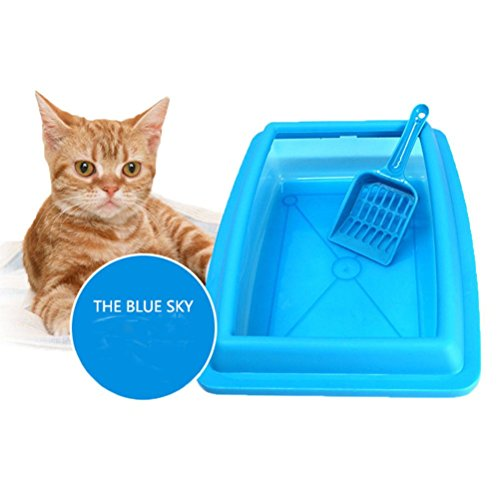 Cat Bedpans Semi Closed Anti-splash Cat Toilet Pet Cat Litter Box Plastic - Diagram Sunglasses Of