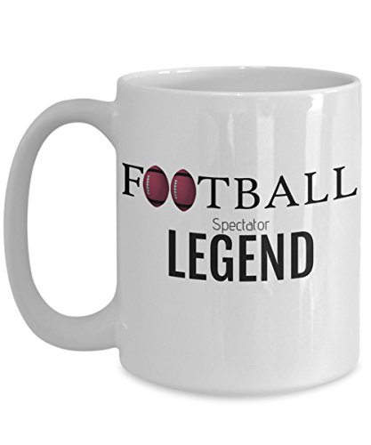 FOOTBALL SPECTATOR LEGEND - Funny Coffee Mug - Perfect Gift for Him or Her - Cardinals Fan, Coach, Player, Husband, Men, Dad, Ceramic ()