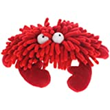 Multipet Sea Shammie 7-Inch Plush Crab Dog Toy, Red
