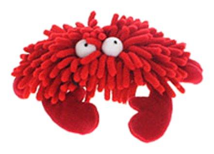 Multipet Sea Shammie 7-Inch Plush Crab Dog Toy, Red ()