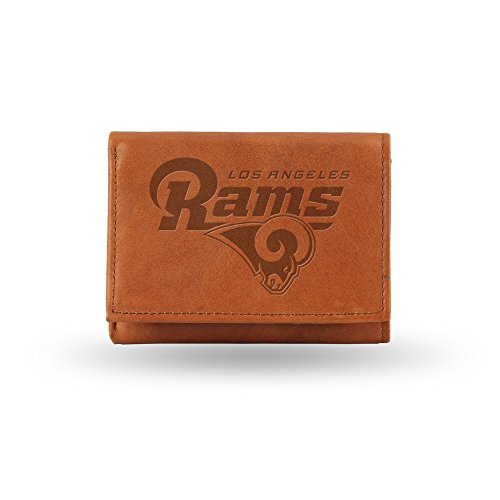 Los Angeles Rams Football - Rico Industries NFL Los Angeles Rams Embossed Leather Trifold Wallet