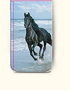 OOFIT Apple iPhone 6 Case 4.7 Inches - Black Horse Running in the Riverside by icecream design