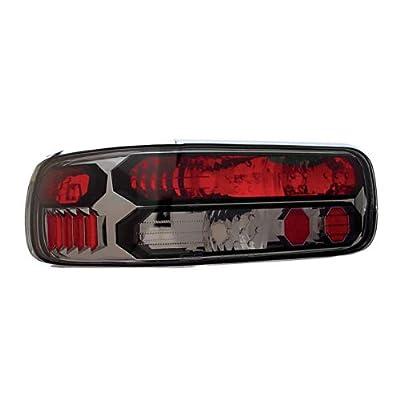 IPCW CWT-CE316CS Crystal Eyes Platinum Smoke Clear Eyes Tail Lamp with Black Trim: Automotive
