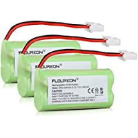 FLOUREON 3-Pack 2.4V 400mAh Cordless Home Phone Battery for AT&T BT162342 BT162342 BT166342 BT-166342 BT266342 BT-266342