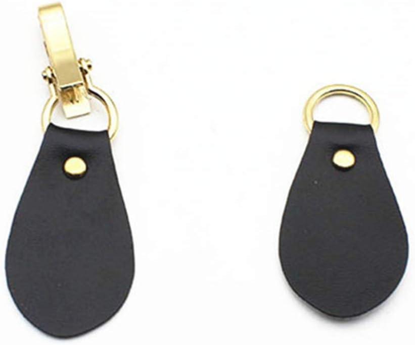 Healifty 4 Pcs en Cuir Onglet Fermeture Clip Clip Titulaire Boucle Fermoir Broche pour Poncho Cape Cardigan Wrap Ch/âle Accessoires Or Et Caf/é