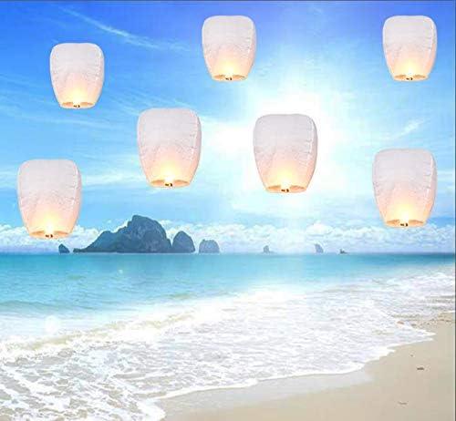 Lanternes chinoises en papier de v/œux 100/% biod/égradable Blanc /écologique blanc