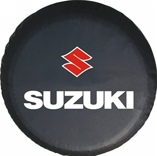 Bobbycool Universal Spare Tire Type Cover Size M15 Inch Wheel Covers For Suzuki Grand Vitara XL-7 Sidekick