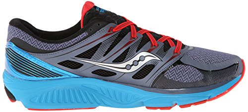 Saucony Men's Zealot ISO Running Shoe Grey/Blue/Red factory outlet sale online free shipping with paypal aMVUVTQVv
