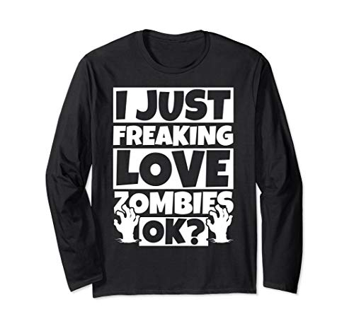 Zombie Lover Funny - Zombies Humor Gift Long Sleeve T-Shirt - Funny Sleeve Long Zombies