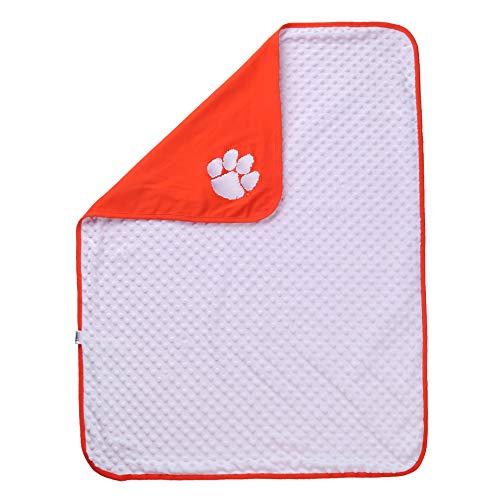 NCAA Clemson Tigers Baby Blanket for Boy or Girl Orange