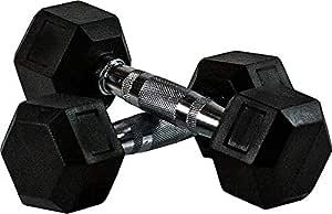 Skyland Neo Hex Dumbell Set, 8Kg x 2 - Black, Em-9260-8