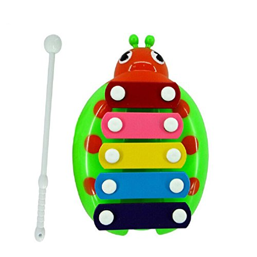 Musical Toys CocoMarket Kid Baby Musical Instrument 8-Note Xylophone Wisdom Development Toy (Green)