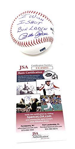 Pete Rose Cincinnati Reds Signed Autograph Official MLB Baseball I WISH I SHOT BIN LADEN INSCRIBED JSA Witnessed Certified (Baseball Signed Pete Rose)