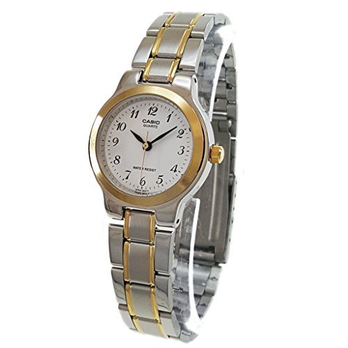 Casio #LTP1131G-7B Women's Two Tone Easy Reader Metal Fashion Analog Watch