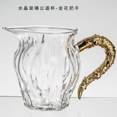 GBCJ Teaware Japanischer TeeGrüneiler mit großem Glas-Messbecher, seitlicher Griff Griff Griff aus Kristallglas-Messbecher - 8,2  7cm Weithals-Jinlong B07M7T388N Messbecher & Mae 443571