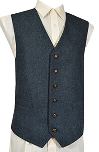Classic Wool Vest (Classic Wool Handle Donegal Style Tweed Waistcoat - Brown)