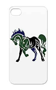Black Polo Tattoo Animals Nature Sport Equestrian Bronco Graphic Horses Vector Design Horse Tribal Cowboy Riding Bucking Equine Darr 09 TPU Shock-absorbent Protective Hard Case For Iphone 5