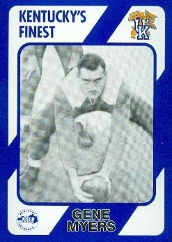 Gene Myers Football Card (Kentucky) 1989 Collegiate Collection #178