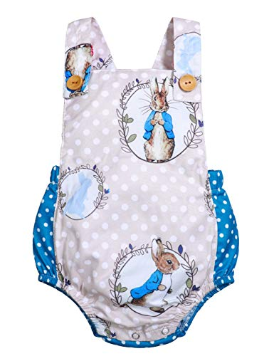 Easter Infant 6 12 18 24 Months Baby Girls Rabbit Romper Sleeveless Bodysuit Summer Jumpsuit Kids Playsuit 12-18 Months Gray
