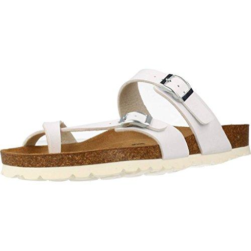 303b1712 Delicado YELLOW Sandalias y Chanclas Para Mujer, Color Blanco, Marca,  Modelo Sandalias Y