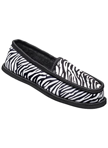 Amerimark Kvinna Vuxna Toasty Toffel Tofflor Tofflorna Zebra