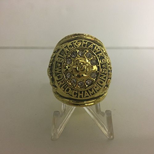 1960-1961 Bobby Hull & Stan Mikita Chicago Blackhawks High Quality Replica 1960-1961 Stanley Cup Ring Size 11-Gold Colored US SHIPPING ()