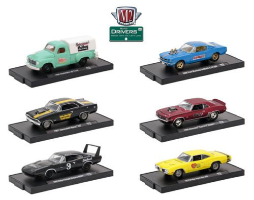 NEW 1:64 AUTO DRIVERS SERIES 43 ASSORTMENT Diecast Model Car By M2 Machines Set of 6 Cars