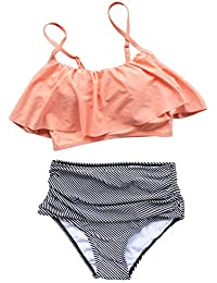 Women's Falbala High-Waisted Bikini Set