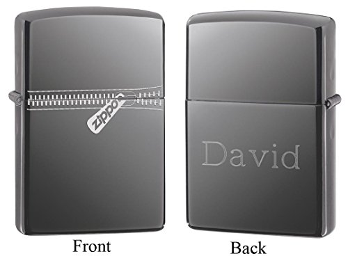 (Personalized Zippo Zipper Black Ice Lighter with Free Engraving )