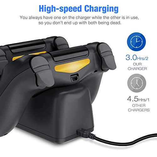 BEBONCOOL PS4 Controller Charger DualShock 4 Controller USB Charging Station Dock PlayStation 4