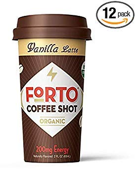 FORTO Coffee Shots - 200mg Caffeine, Vanilla Latte, Ready-to-Drink on the go, Cold Brew Coffee Shot - Fast Coffee Energy Boost, 12 Pack