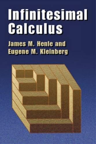 Stand Integral (Infinitesimal Calculus (Dover Books on Mathematics))