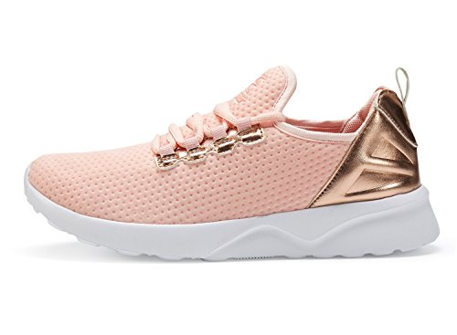 - Leader Sports Women Sneakers Gym Athletic Shoes Casual Walking Shoes (6, Pink)