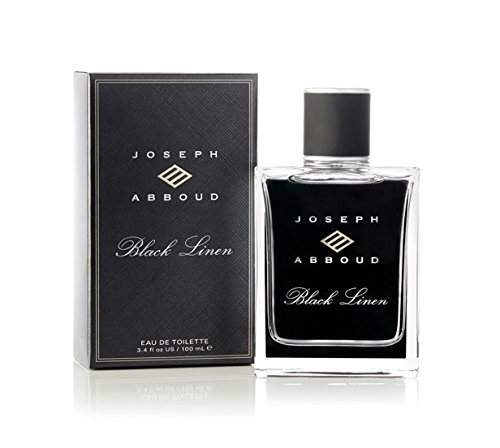 Joseph Abboud Black Linen Eau de Toilette - Cologne Fragrance Spray for Men - With an Addictive Blend of Grapefruit and Clary Sage, Grounded in Masculine Notes of Haitian Vetiver - 3.4 oz 100 ml