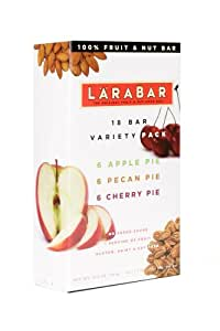 Larabar Bars Variety Pack Of Cherry Pie, Apple Pie, And Pecan Pie, 1.6-Ounce Bars (Pack of 18)