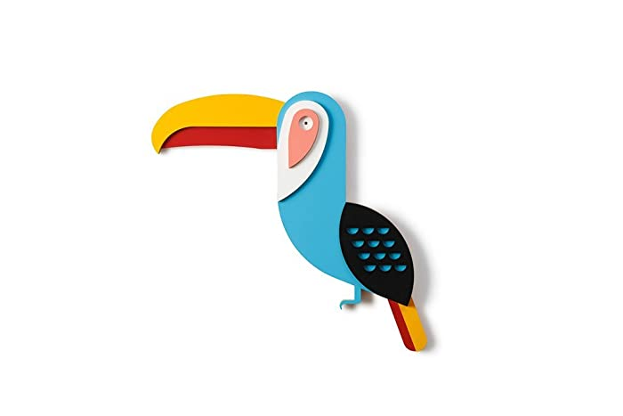 Amazon Com Wooden Toucan Wall Decor Colorful Bird Wall Art