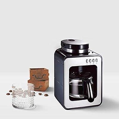 Cafeteras - Filtro de Precisión Temperatura Constante Automática Micro Filtración por Extracción a Presión Moler/Hacer Café Doble Propósito 0.65L 600W, Negro: Amazon.es: Hogar