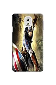 Faustino Olea Tpu cute skin case/shell with texture for Samsung Galaxy note3 (Avengers Captain America)
