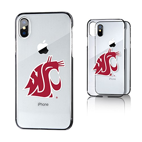 Keyscaper KCLRIX-0WST-INSGN1 Washington State Cougars iPhone X/XS Clear Case with WSU Insignia ()