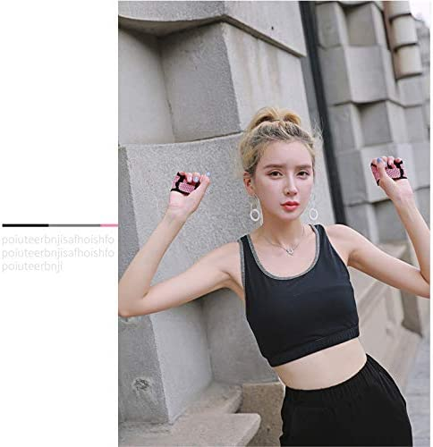 FidgetGear Fitness trainieren Yoga Frauen Anti-Rutsch-Halbfinger-Yoga-Handschuhe Fitnesstraining Fitness Sto/ßd/ämpfende atmungsaktive Sporthandschuhe Rot S