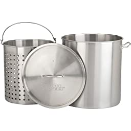 Outdoor Gourmet Pro 100 qt. Stainless Steel Pot with Strainer