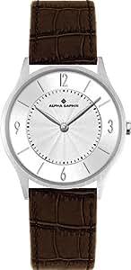 Alpha Saphir 336B - Reloj de mujer de cuarzo, correa de piel color marrón